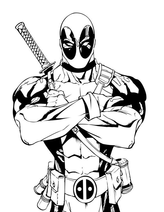 Marvel Deadpool Ausmalbilder Gratis: Pin By NoMoreMutants On GNP Material