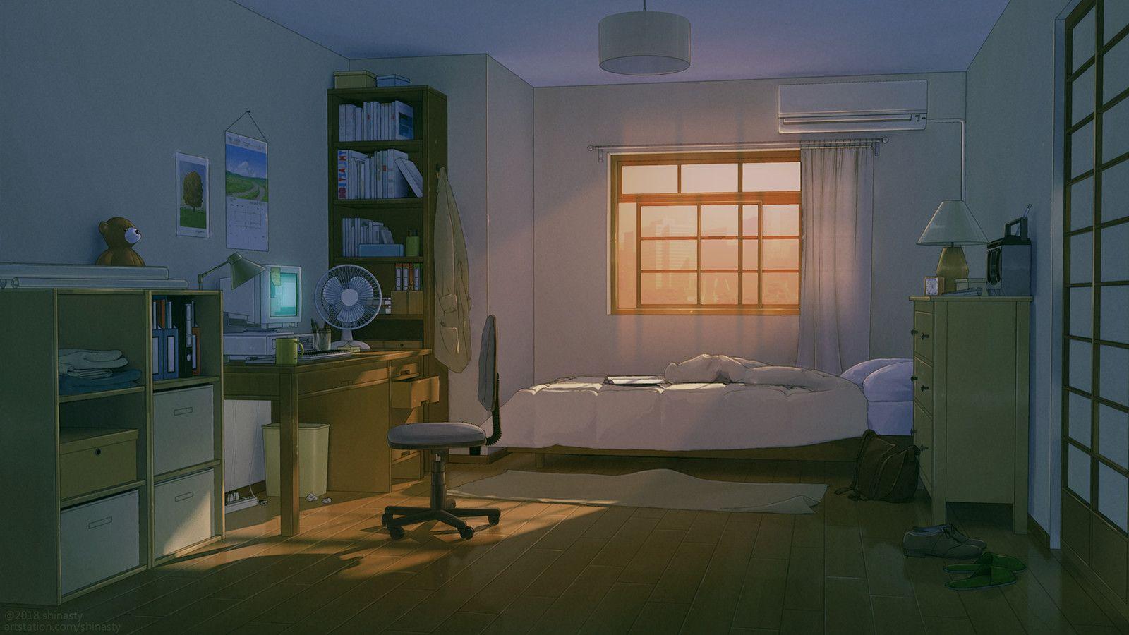 Pin by Ken Brown on Mood scenery in 2019 Bedroom drawing
