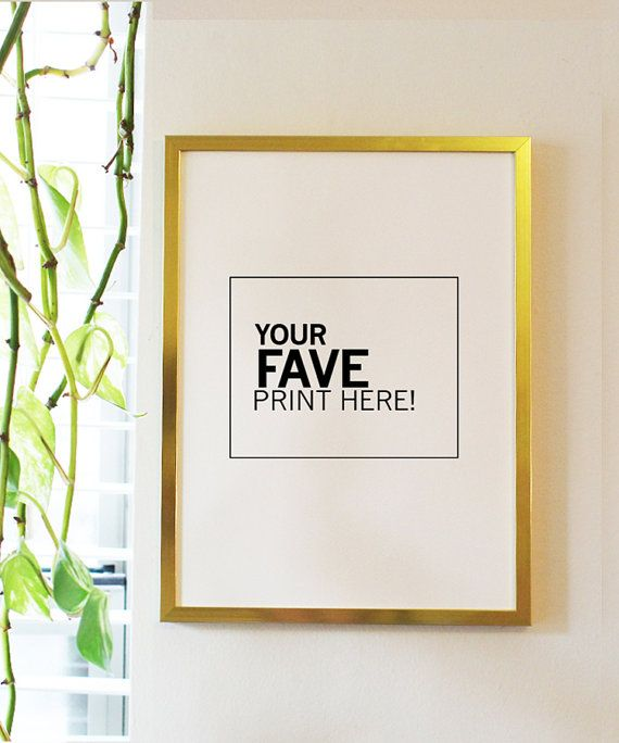 Gold Aluminium Thin Frame 9x12 by ByLucianaM on Etsy | Decorating ...