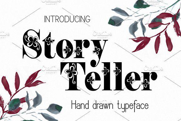 Commercial Download hand drawn typeface Storyteller font TTF OTF hand sketched font Font
