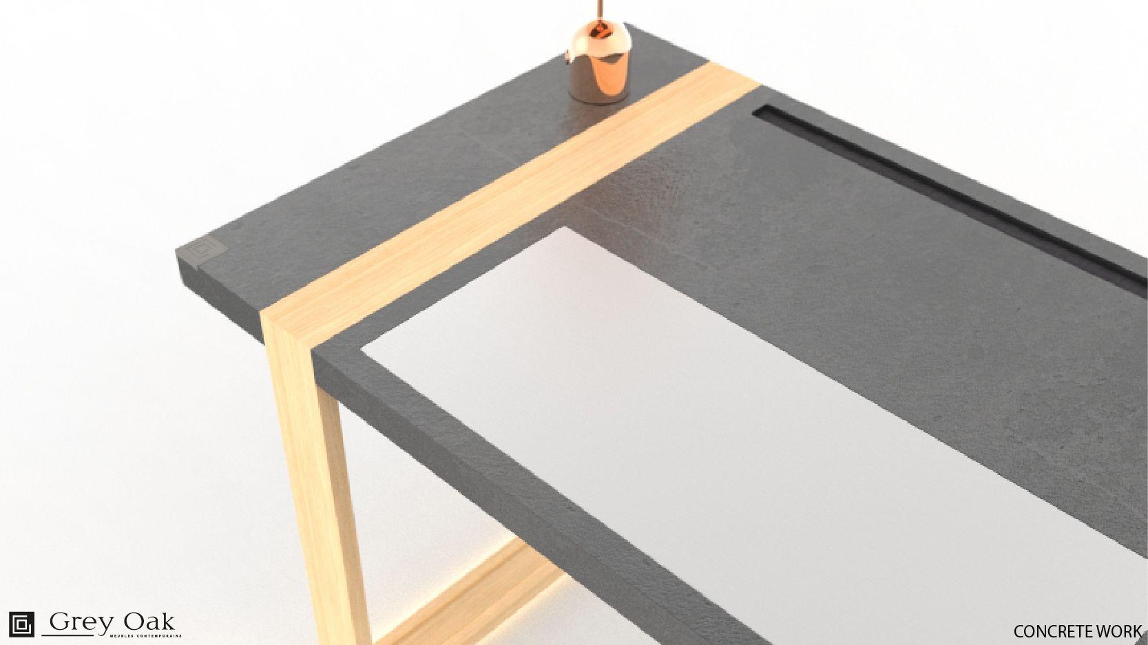 Sous main personnalisable pour bureau concrete work dimensions