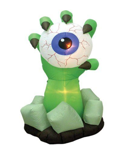 6 Foot Halloween Inflatable Monster Hand with Eyeball Outdoor - outdoor inflatable halloween decorations