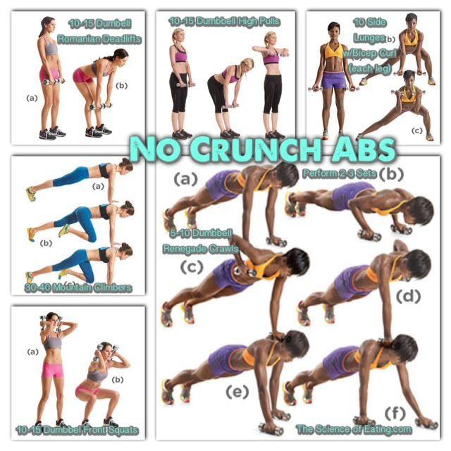 no crunch ab workout video