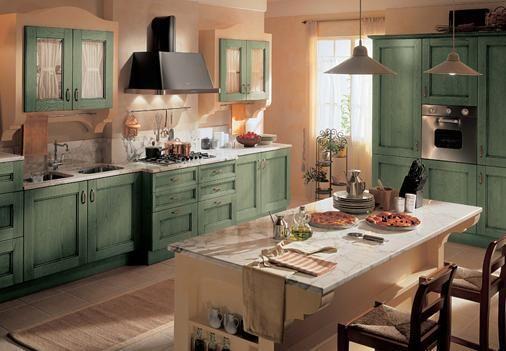 Cucine verde   cucine   Cucine rustiche, Cucine e Cucina shabby chic