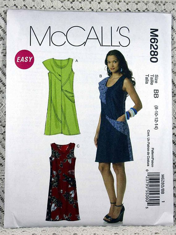McCall\'s 6280, Misses\' Dresses Sewing Pattern, Easy Dress Pattern ...