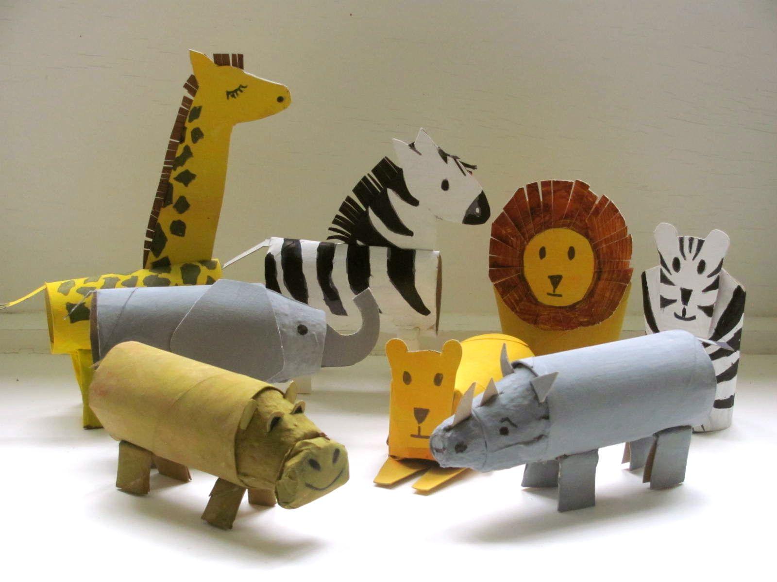 Animali Con Tubi Di Carta Igienica : Diy paper roll animals riciclo carte per bambini