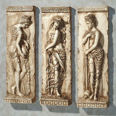 Set of 3 Danaides Argos Greek Wall Plaque