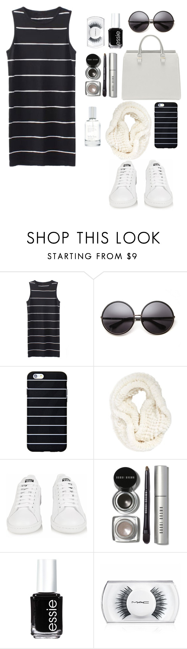 """""""Untitled #625"""" by soosoali ❤ liked on Polyvore featuring House of Harlow 1960, La Fiorentina, adidas, Bobbi Brown Cosmetics, Essie, MAC Cosmetics and Splendid"""