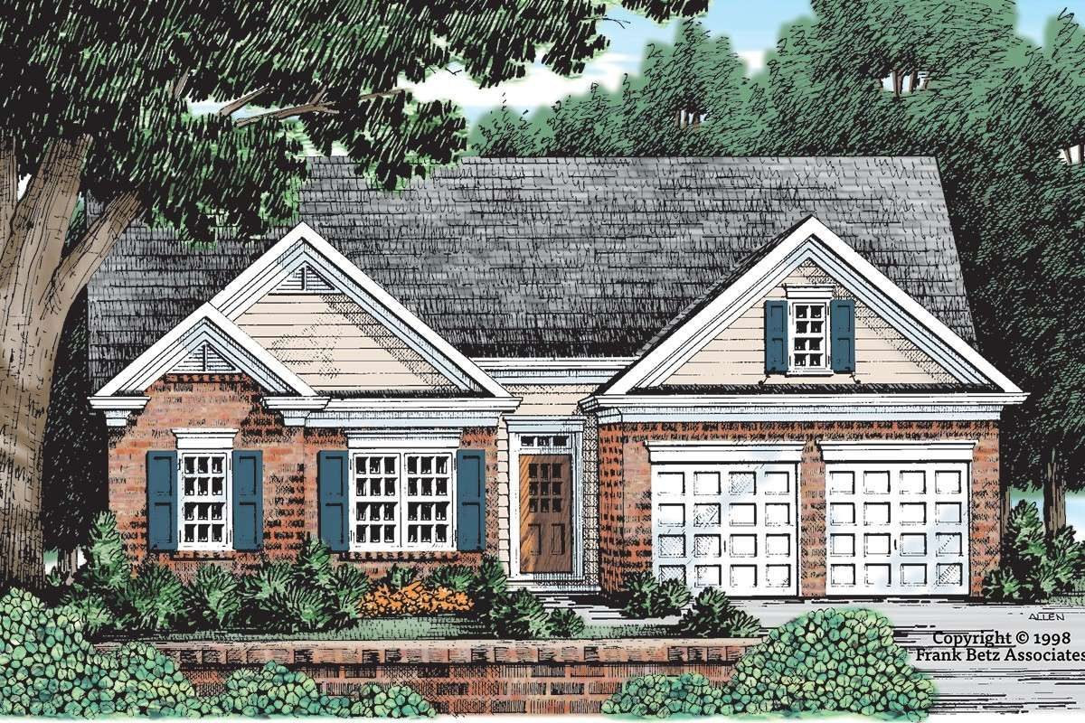 House Plan 8594 00431 Ranch Plan 1 232 Square Feet 3 Bedrooms 2 Bathrooms In 2021 Affordable House Plans Ranch Style Homes Cottage Floor Plans