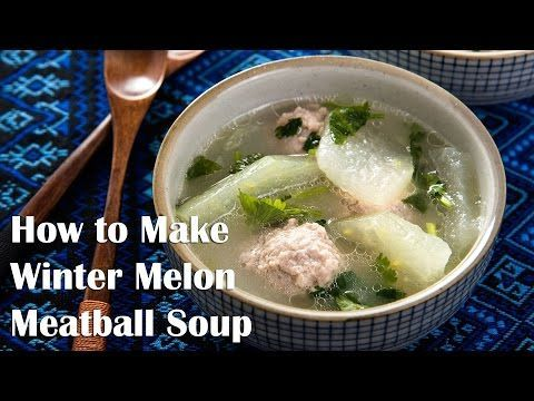 Winter Melon Soup with Meatball (冬瓜丸子汤) #wintermelon Winter melon soup with meatball - a soothing and comforting dish that is high in nutrition and only contains 150 calories per serving. #wintermelon