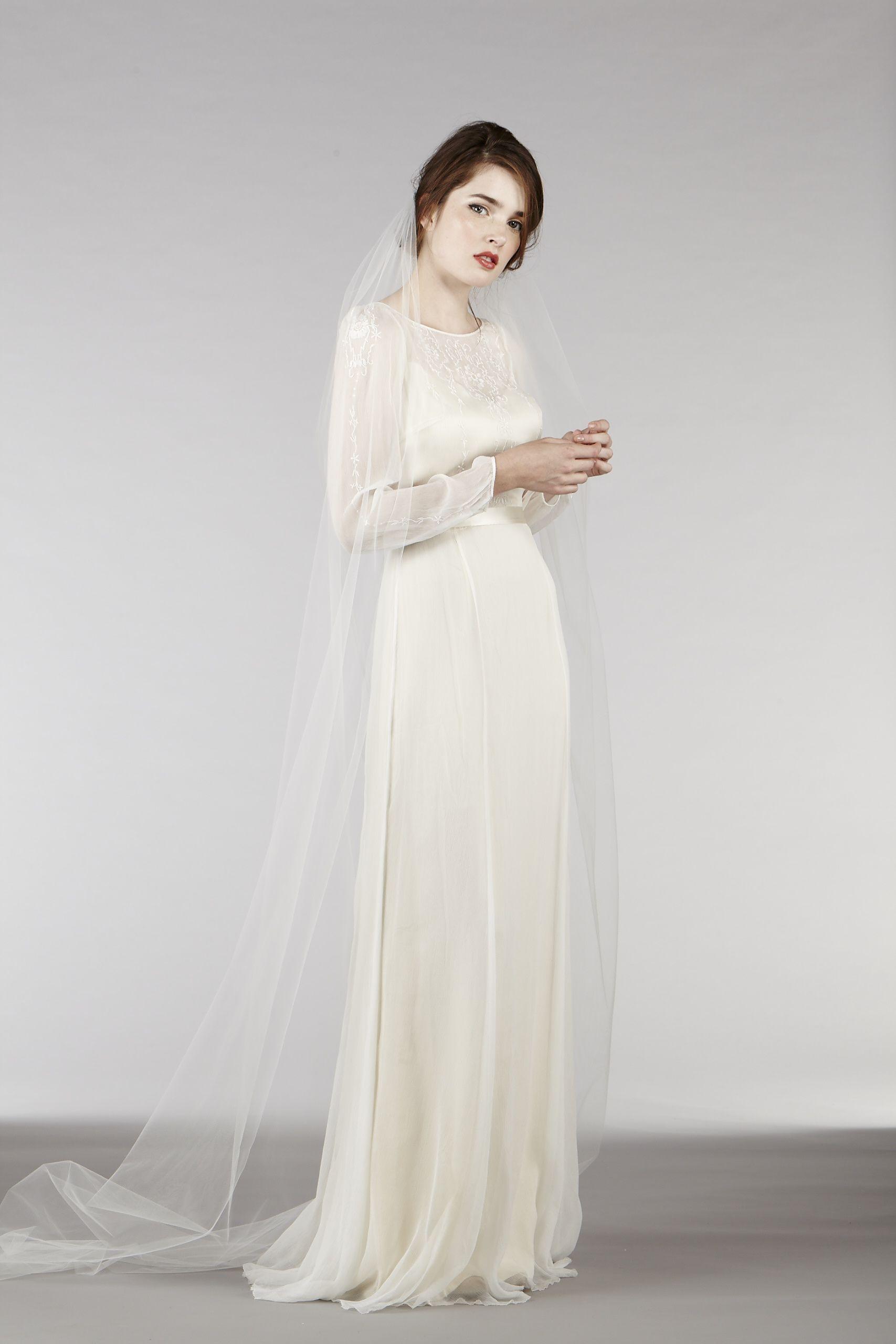 RM6325 Long Sleeve Bohemian Wedding Dress Modest wedding