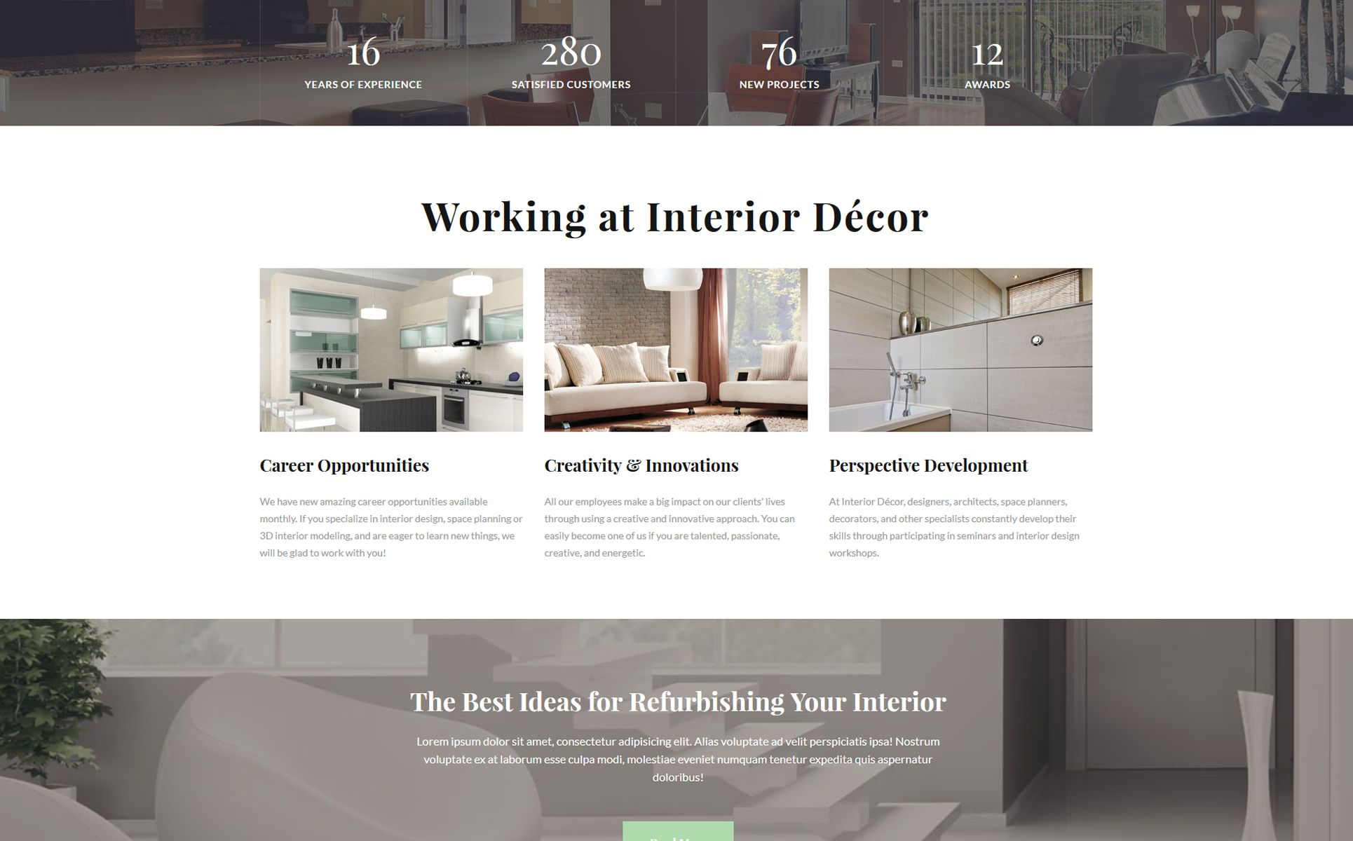Interior Decor Interior Design Multipage Html5 Website Template