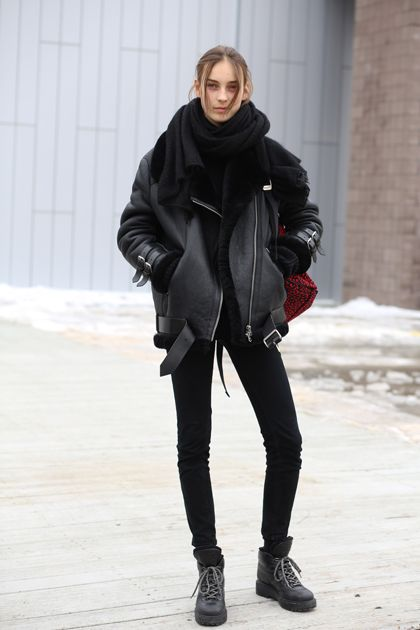 Check Out All of the Very Best Street Style Looks from New York Fashion Week -   25 black style fashion ideas