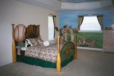Baseball Room Boys Beds Pinterest