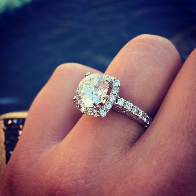 Pin for Later: 51 Real-Girl Engagement Rings Massive Enough to Ice-Skate On So Much Glam