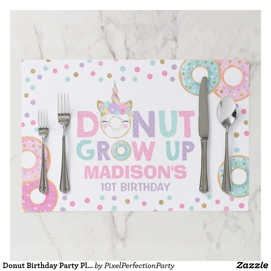 donut placemat gifts for girls placemats for kids Donut gifts donut table decor sprinkles gifts personalized placemat girls placemat