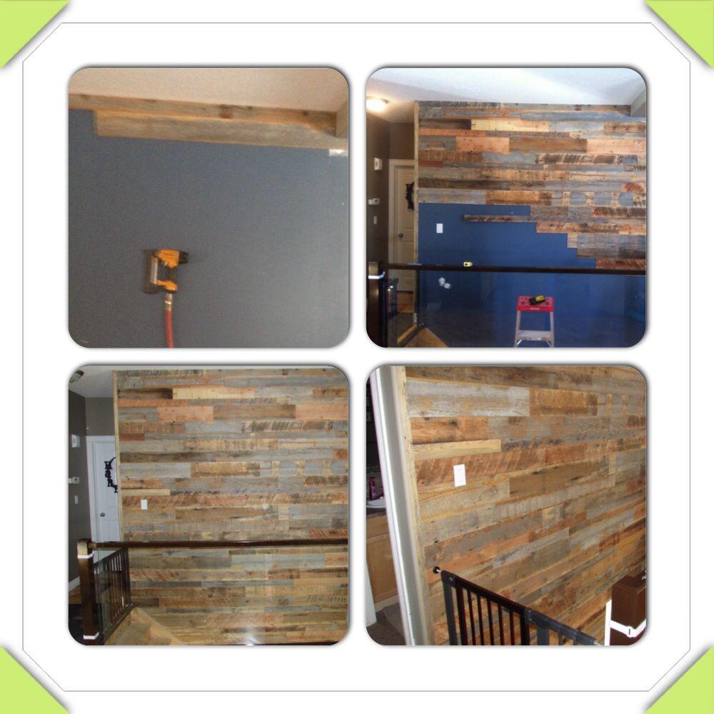 Barn Board Wall Into Our Basement