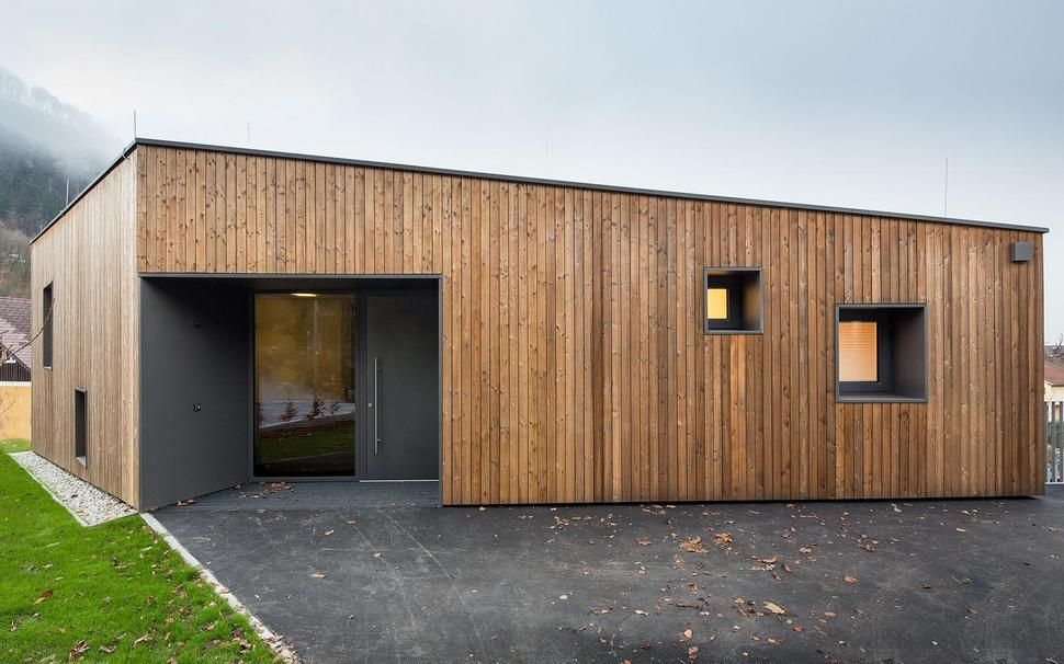 Simple Geometric House With Two Profiles House T In Salzburg