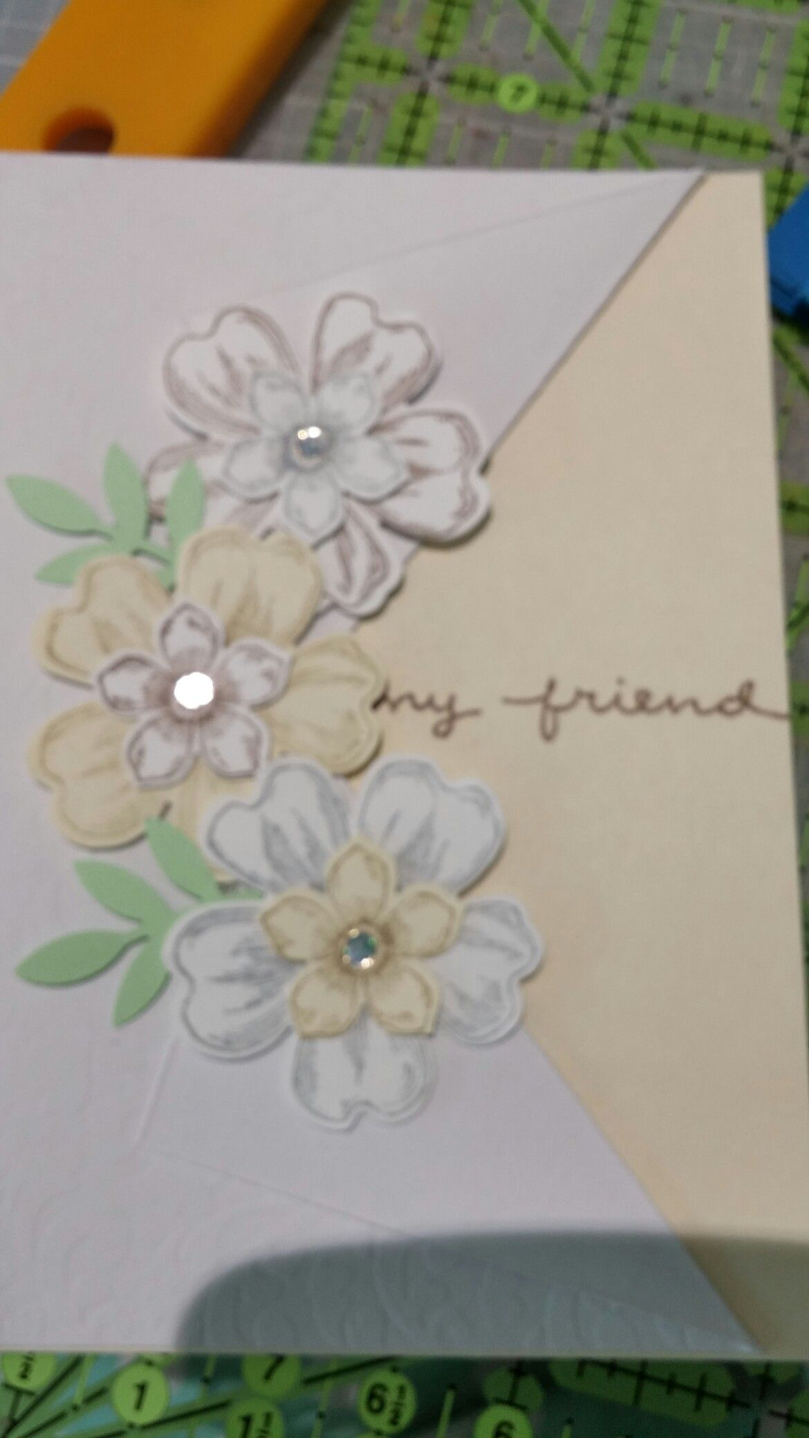 Need little flowers stamped and punched