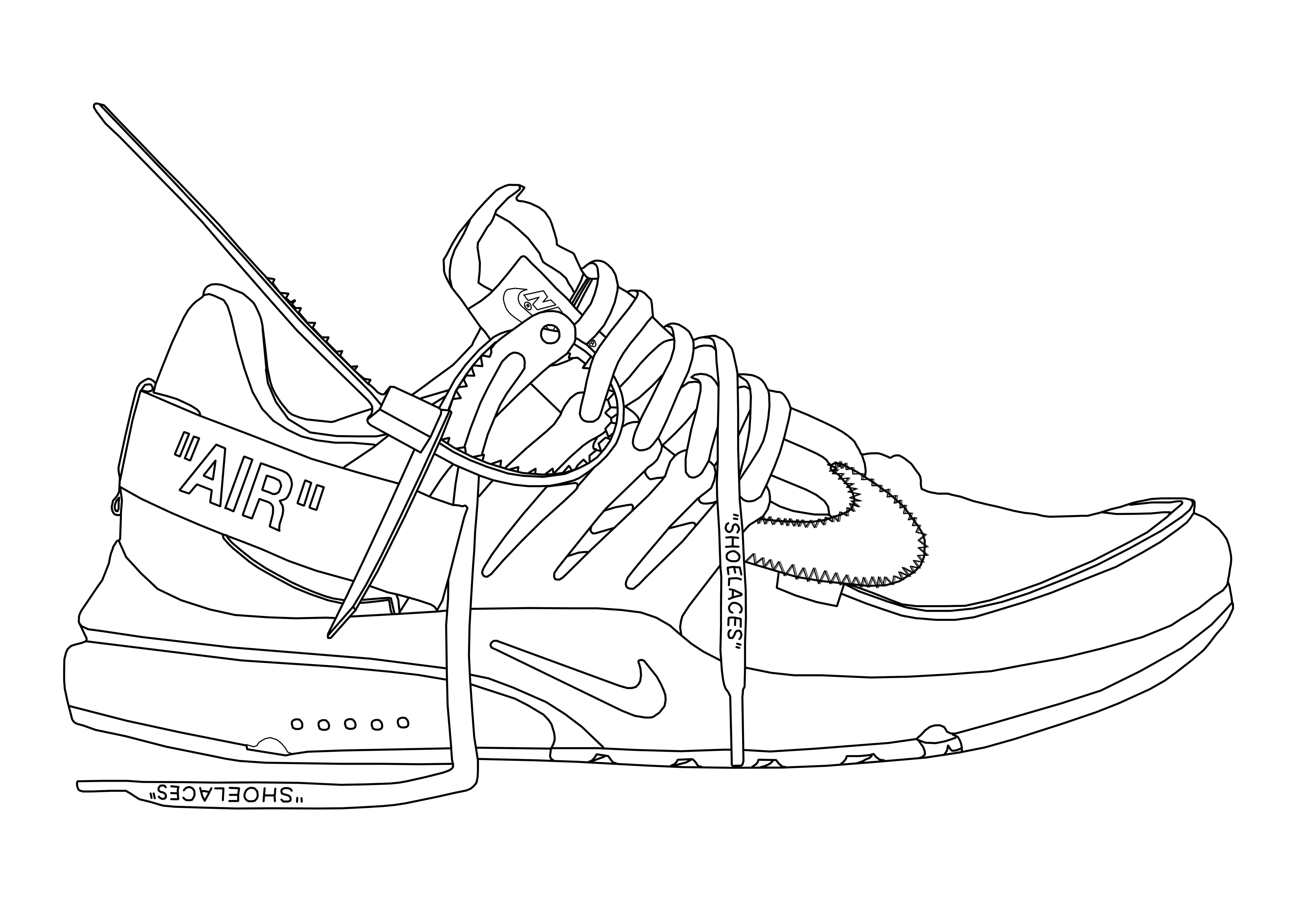 Off White Air Presto Outline Shoe Design Sketches Shoes Drawing