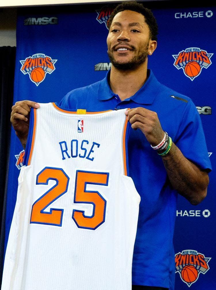 innovative design 6cc7e fe4ba WHO WILL BUY THE DERRICK ROSE #25 NEW YORK KNICKS JERSEY ...