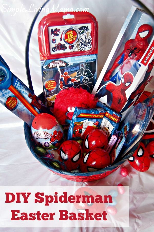 Diy spiderman easter basket easter baskets spiderman and easter diy spiderman easter basket simple living mama disneyeaster ad negle Image collections