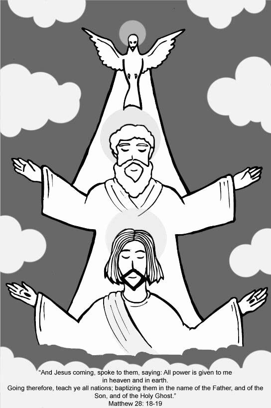 28 Holy Trinity Coloring Page in 2020 | Catholic coloring ...