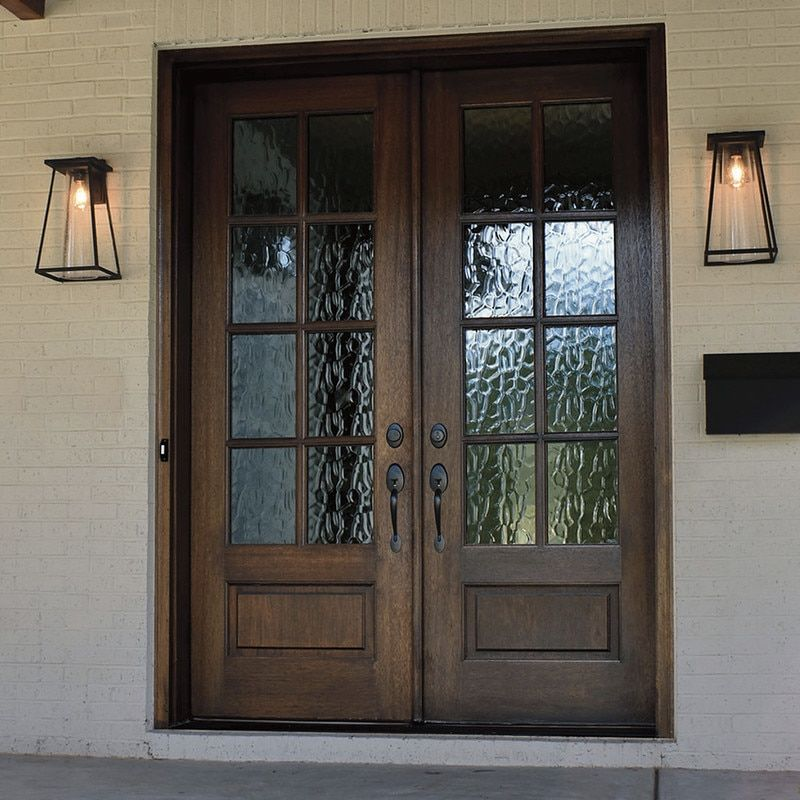 Andalucia 8 Lite True Divided Lite Double Entry Door French Doors Exterior Exterior Doors Exterior Door Designs