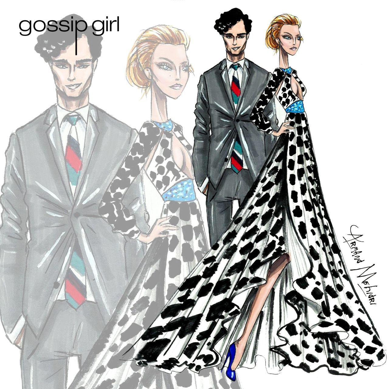 Gossip Girl Fashion Drawings