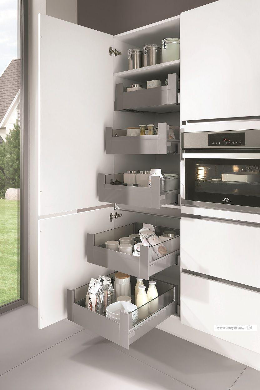 Keuken i opbergruimte i indeling keukenkast i opruimen for Interieur keuken ideeen