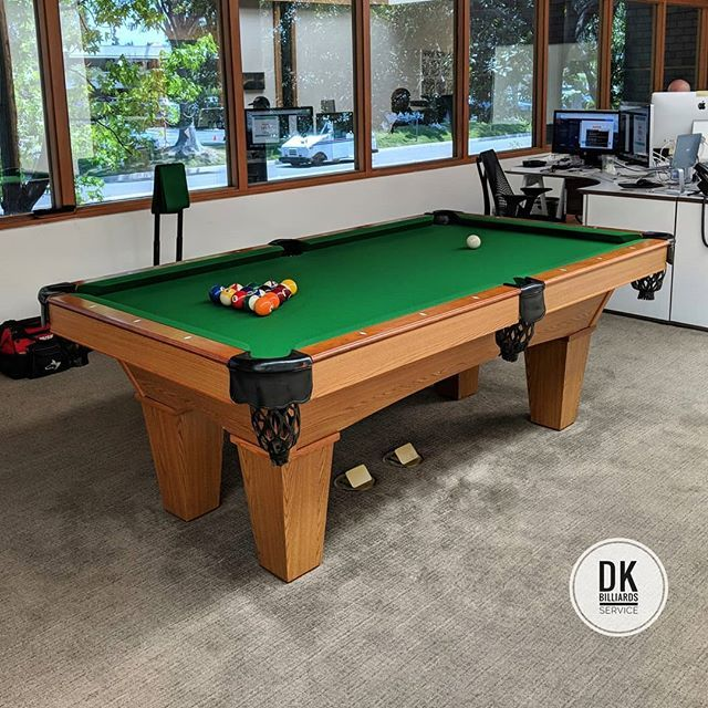 Finished refelting this 7 foot Brunswick pool table in ...