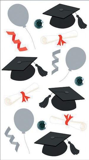 Graduation Caps and Diplomas Jolees Boutique Dimensional Stickers