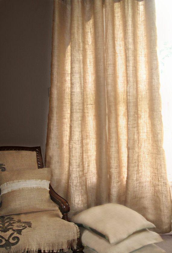 N 39 importe quelle couleur ou motif rideaux de toile de jute - Rideaux en lin pas cher ...