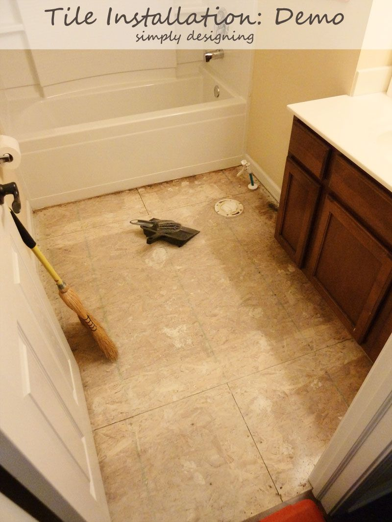 Tile Plan And Demolition Tile Installation Part 1 Thetileshop