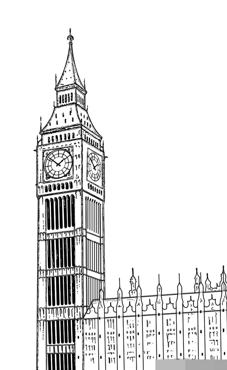 big ben rysunek - Szukaj w Google | London drawing, Big ben, Big ben drawing
