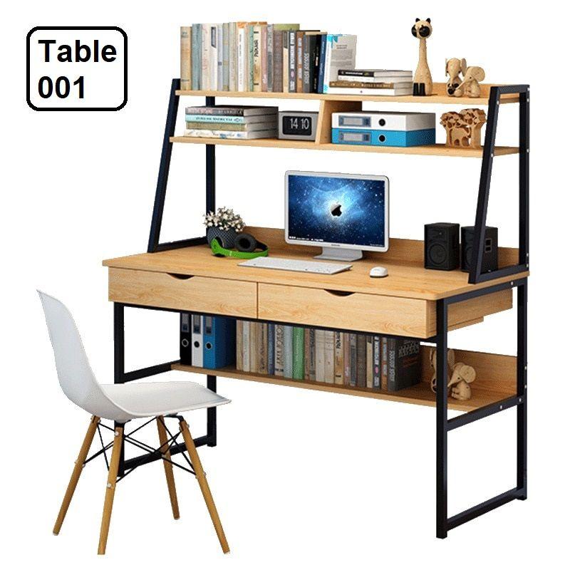 Desktop Computer Desk Simple Desk High Quality Materials 014 In 2020 Simple Desk Study Table Desktop Computer Desk