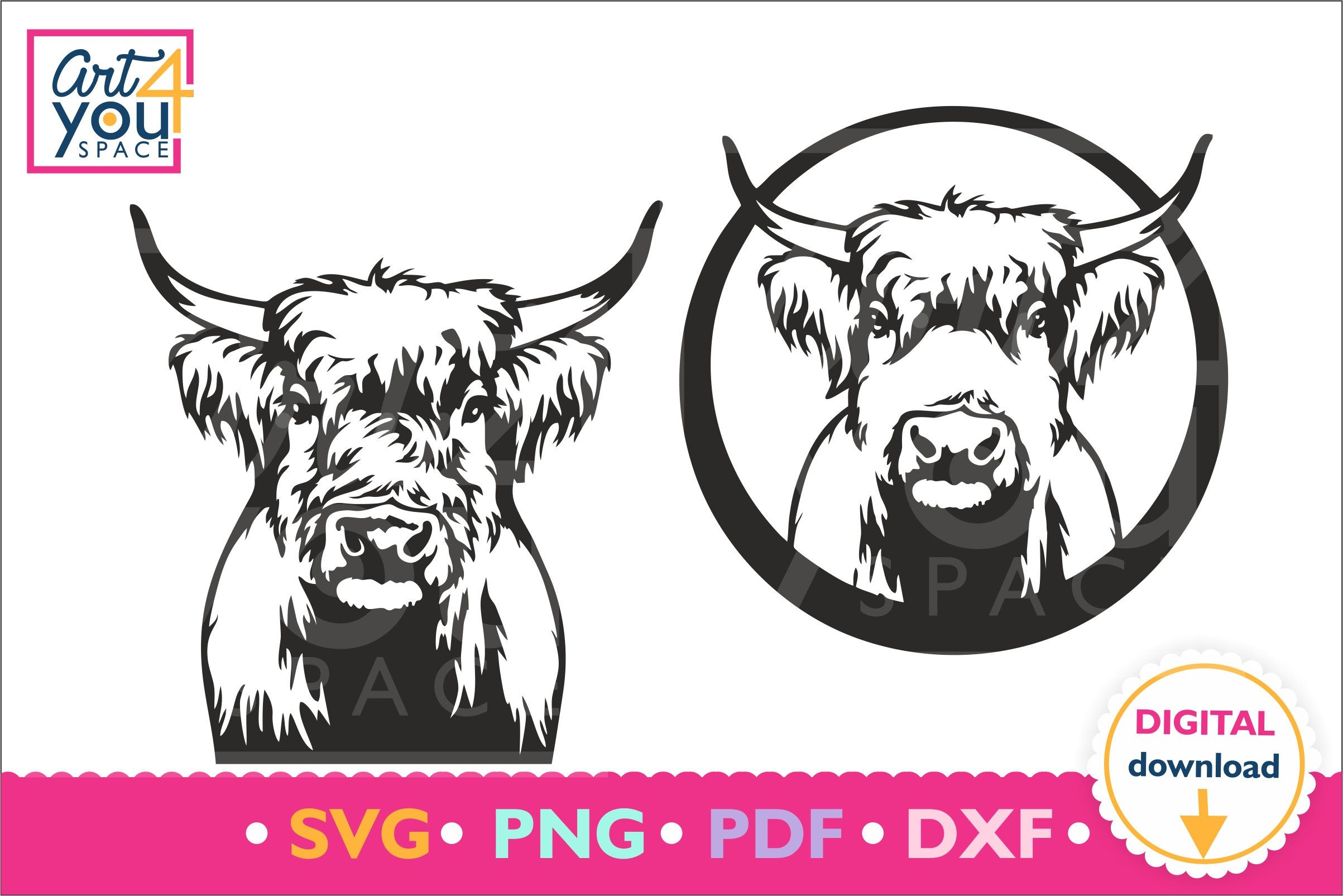 Highland Cow Logo Template Design, Higland, Cow, Highlandcow PNG and Vector  with Transparent Background for Free Download