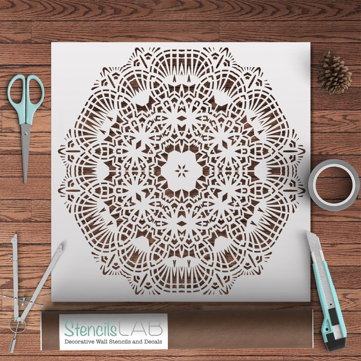 Mandala Style Stencil