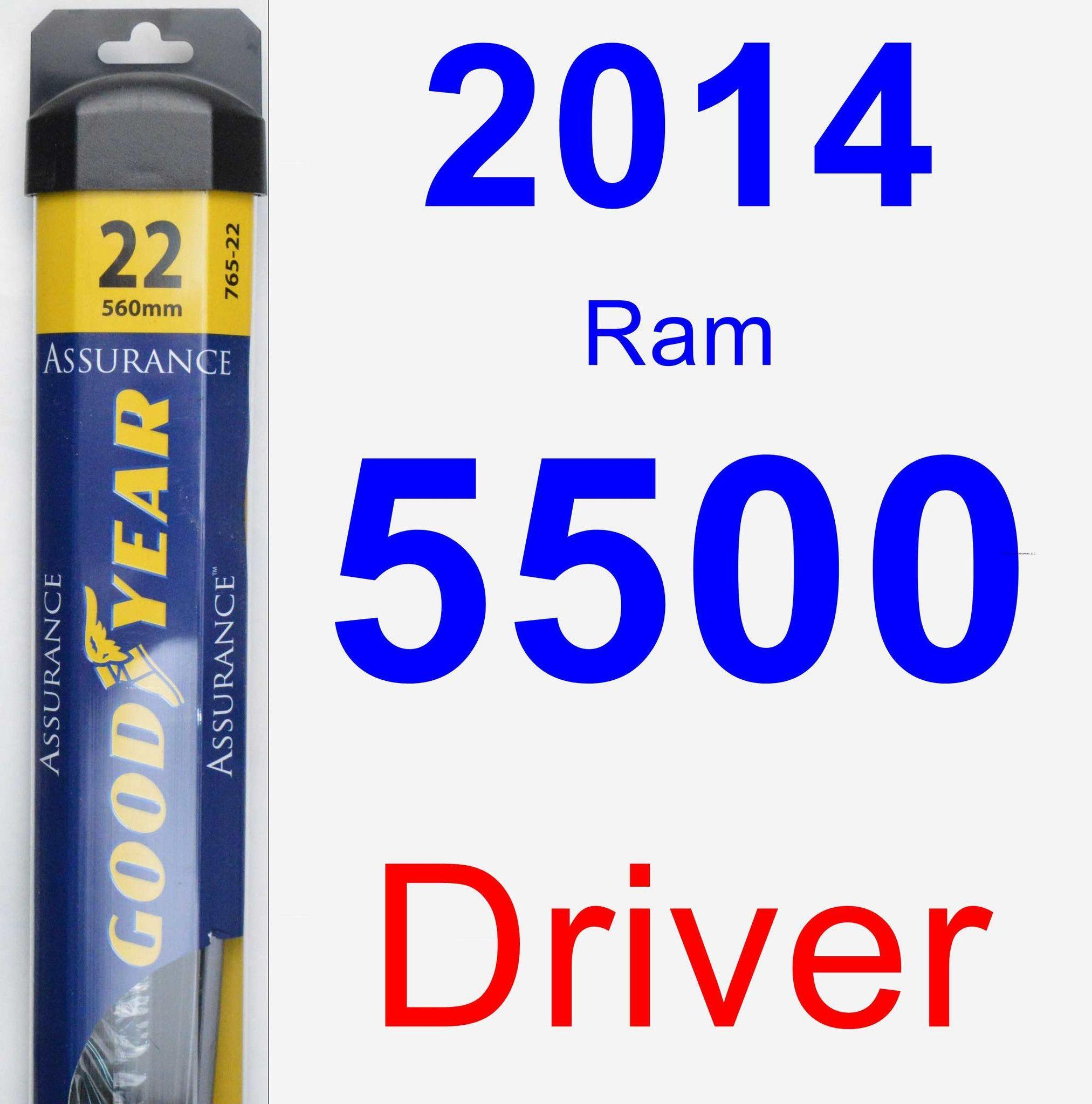 Driver Wiper Blade for 2014 Ram 5500 - Assurance