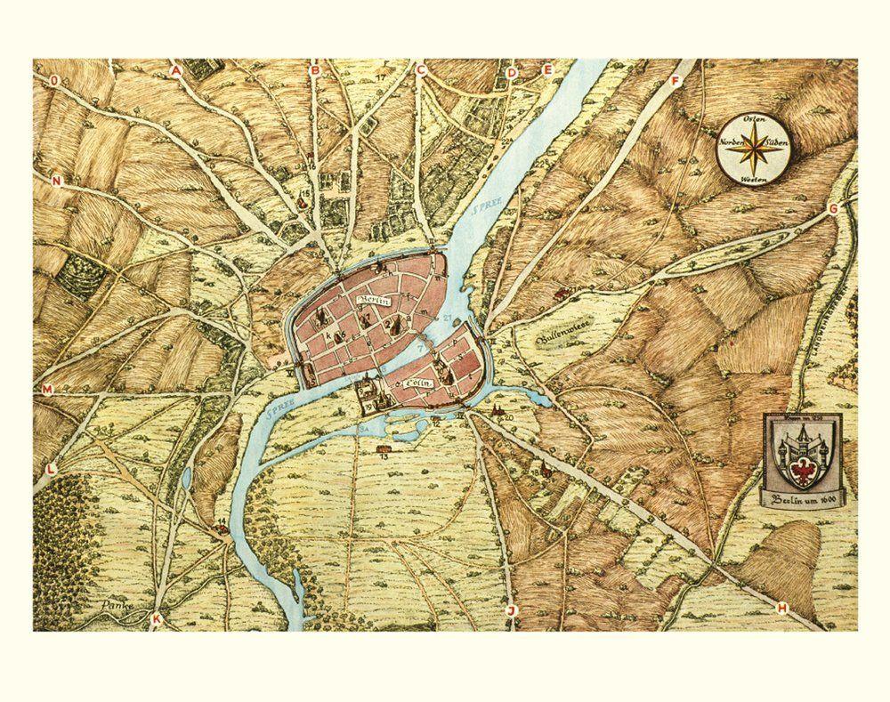Das War Die Berliner Altstadt Um 1600 Berlin Karte Berlin