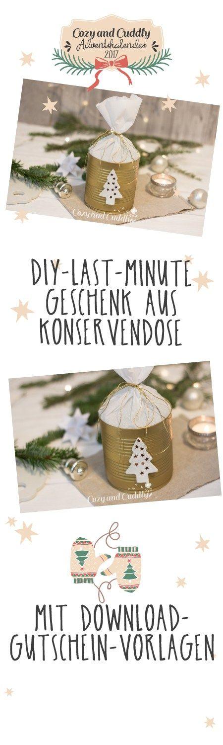 Last-Minute-Geschenkverpackung für einen Gutschein in der ...