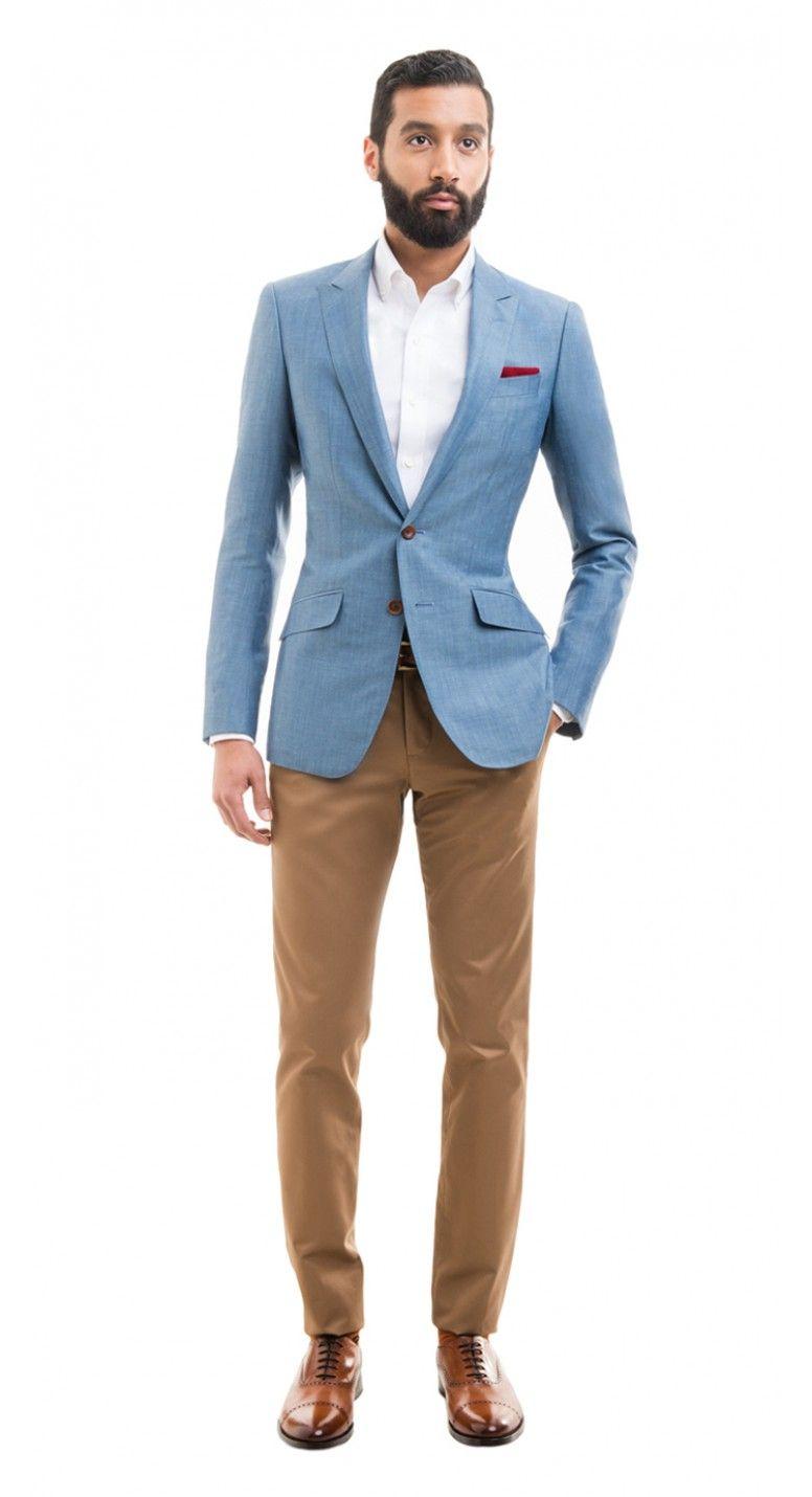 Style Custom Light Linen 2019 En Blue Men's Blazer Blend ffSwxaCTq