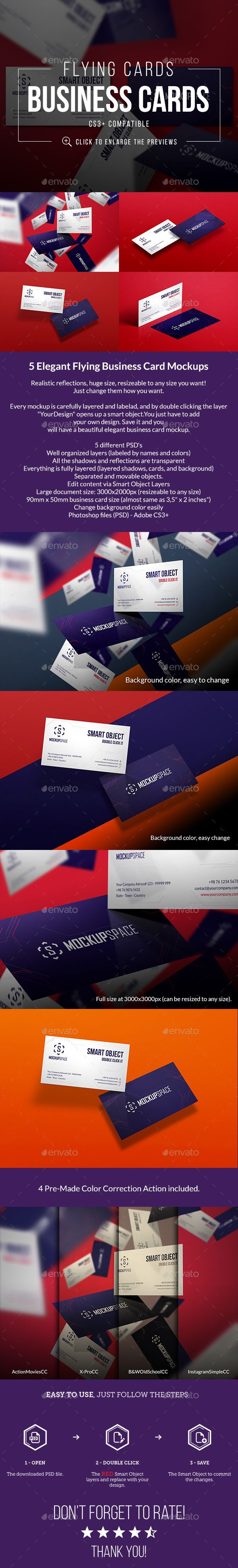 Flying elegant business cards reheart Image collections