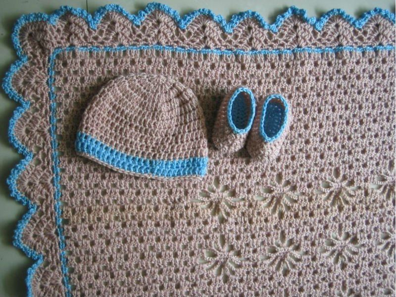 La moda de alta calidad 100% ganchillo bebé manta, crochet bebé ...