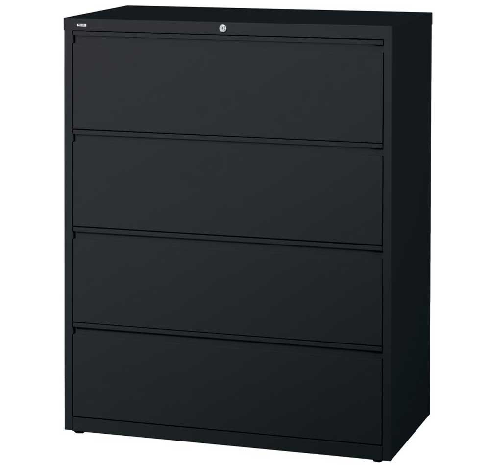 Uncategorized Awesome Lateral File Cabinet Design Ideas With Four Drawer And Beautiful Black Colour Unusual Collection Cabinets
