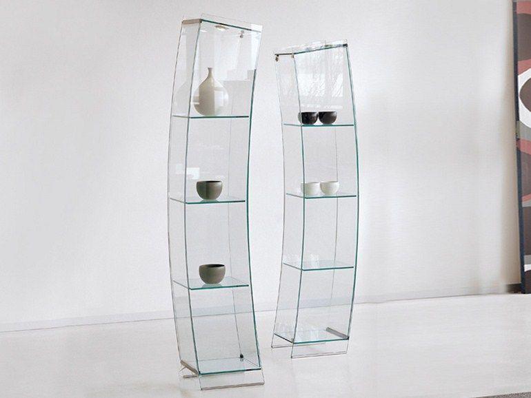 Crystal Display Cabinet Open Wind By Cattelan Italia Design Vetrina 28