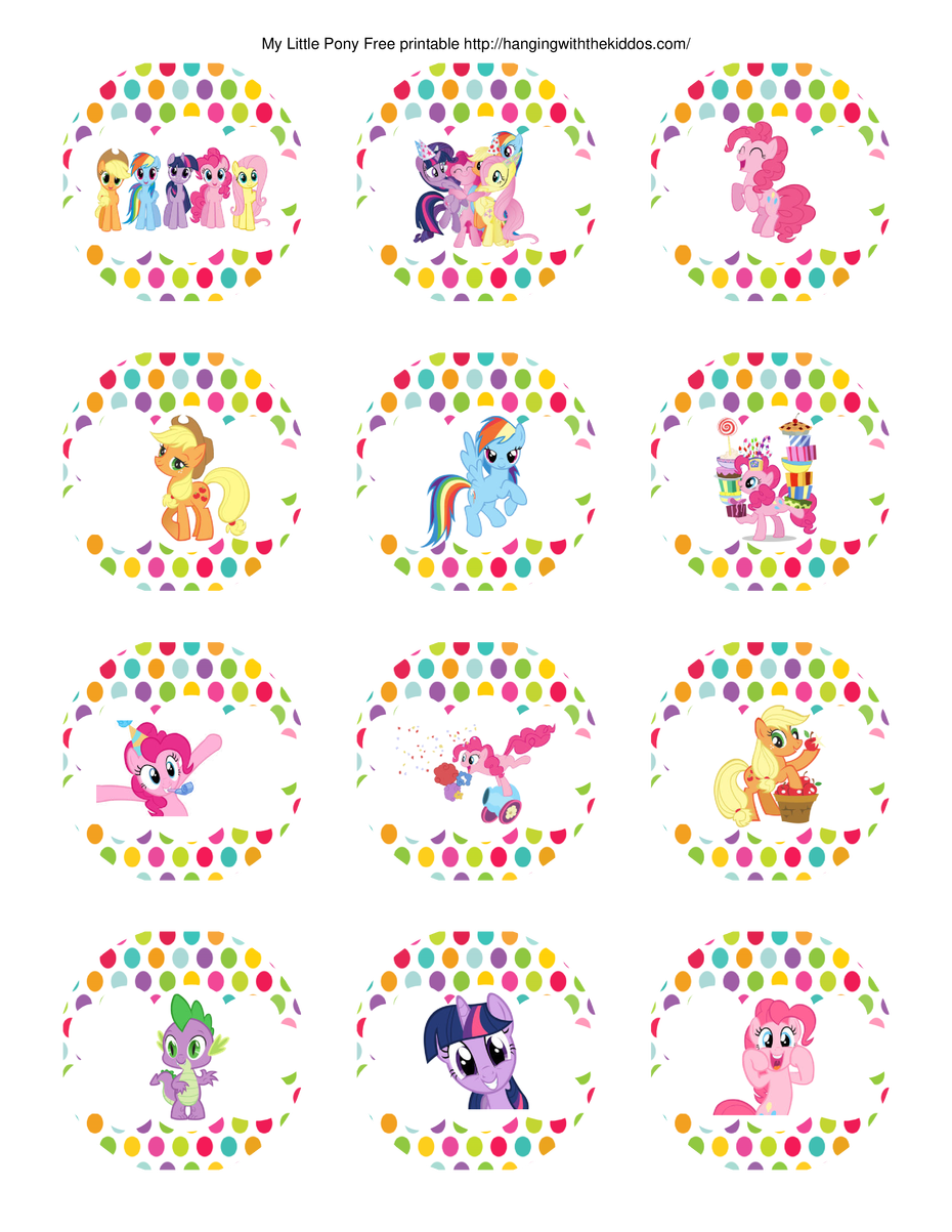 super cute collection of Free My Little Pony Party Printables. This ...