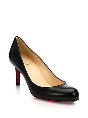 Christian Louboutin Kid Leather Mid-Heel Pumps  d41a8783e