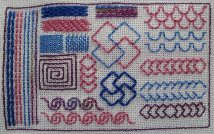 Backstitch Using Stranded Dmc Silk And Perle 5 8 And 12 By Annet