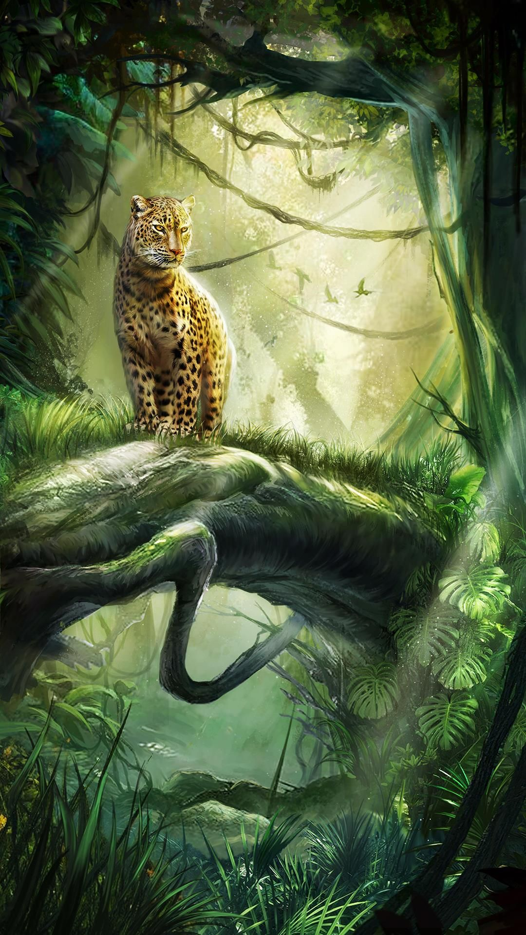 leopard on the tree! Beautiful android live wallpaper